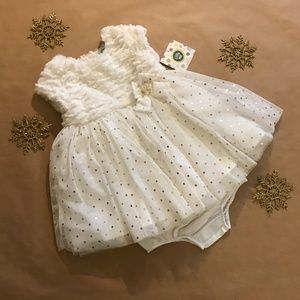 Holiday Little Me Dress w/bloomers